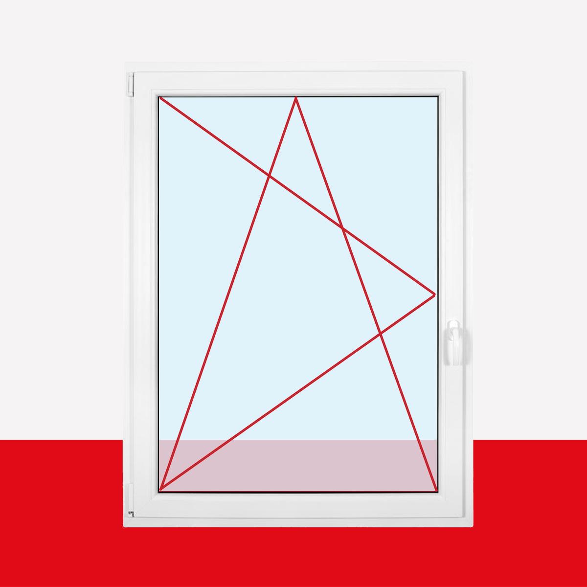 500 x 600 mm Winkhaus Beschlag Isolierglas DIN Links Kellerfenster Kunststoff Fenster Dreh Kipp 50 x 60 cm