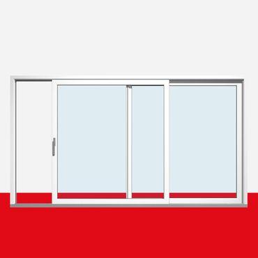 Hebe-Schiebe-Tür nach rechts öffnend, Breite 3800mm