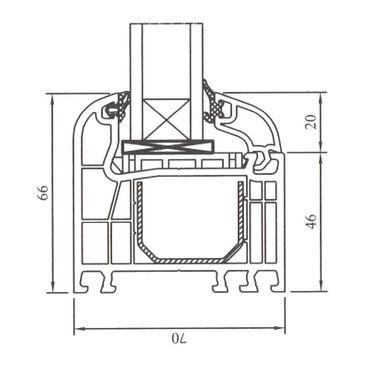 Festverglasung Rahmen Weiß – Bild 4