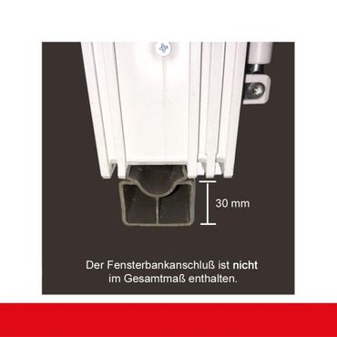 2-flügliges Kunststofffenster Weiß Dreh-Kipp / Dreh-Kipp mit Pfosten – Bild 4