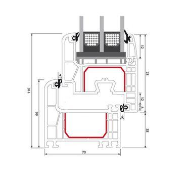 1-flüglige Balkontür Kunststoff Dreh-Kipp Weiß – Bild 7
