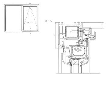 Parallel Schiebe Kipp Tür Schiebetür PSK Kunststoff Weiß – Bild 6
