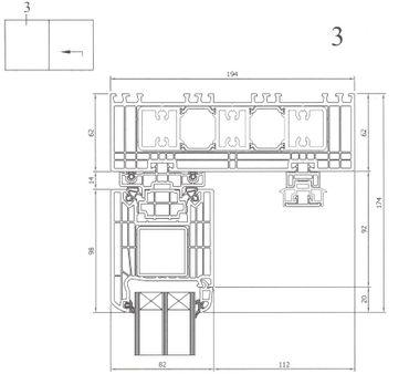 Hebe Schiebetür Kunststoff Weiß – Bild 11