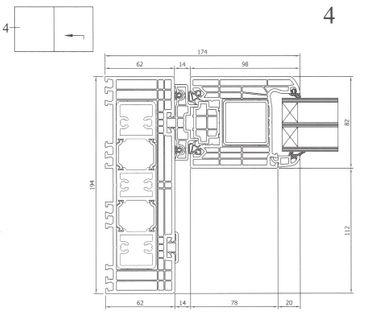 Hebe Schiebetür Kunststoff Weiß – Bild 12