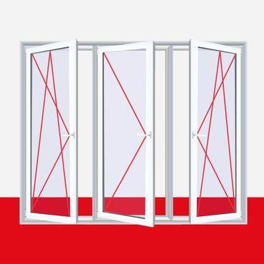 3-flügliges Kunststofffenster DK/D/DK Weiß ? Bild 1