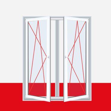2-flüglige Balkontür Kunststoff Pfosten Weiß ? Bild 1
