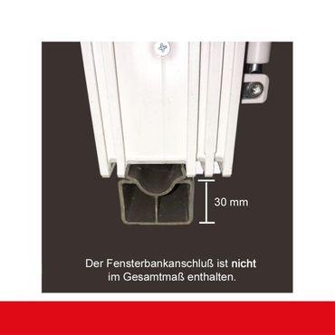 2-flügliges Kunststofffenster Eiche Dunkel Dreh-Kipp / Dreh-Kipp mit Pfosten – Bild 6