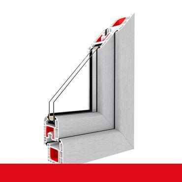 2-flügliges Kunststofffenster Aluminium Gebürstet DL/DKR o. DKL/DR mit Stulp ? Bild 1