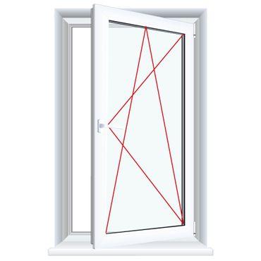 Kunststofffenster Anthrazitgrau (Innen und Außen) Dreh Kipp Fenster 1 flg. – Bild 6
