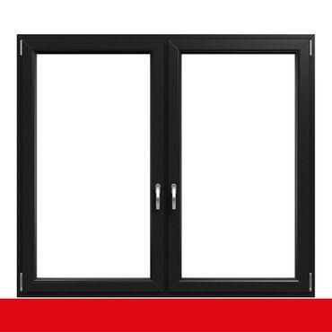 2-flügliges Kunststofffenster Anthrazitgrau (Innen und Außen) Dreh-Kipp / Dreh-Kipp mit Pfosten ? Bild 1