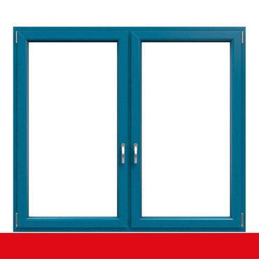 2-flügliges Kunststofffenster Brillantblau (Innen und Außen) Dreh-Kipp / Dreh-Kipp mit Pfosten ? Bild 1