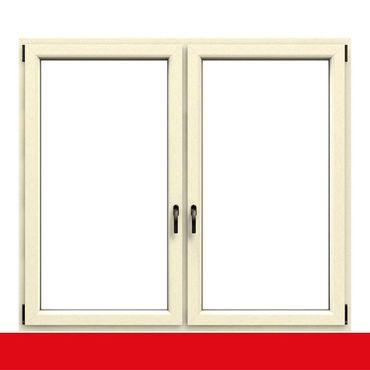 2-flügliges Kunststofffenster Cremeweiß (Innen und Außen) Dreh-Kipp / Dreh-Kipp mit Pfosten ? Bild 1