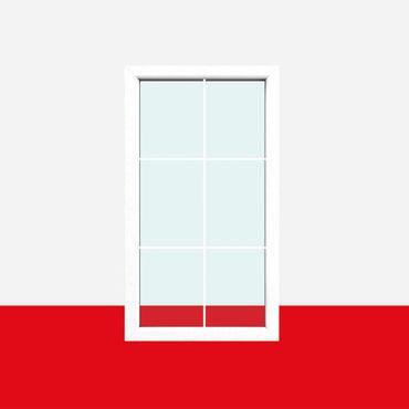 Sprossenfenster Typ 6 Felder Weiß - 1 flg. Festverglasung mit 8mm SZR Sprosse ? Bild 1