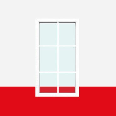 Sprossenfenster Typ 6 Felder Weiß - 1 flg. Festverglasung mit 18mm SZR Sprosse ? Bild 1