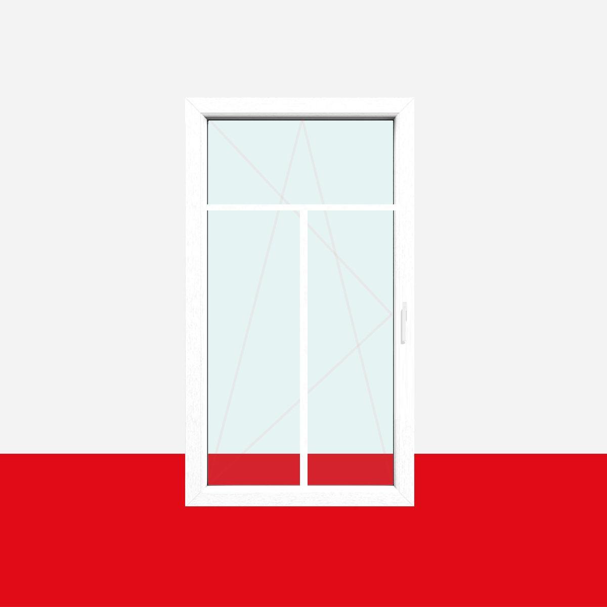 BxH:1200x1300 Glas:3-Fach Drutex Kunststofffenster wei/ß Dreh Kipp Anschlag:DIN Rechts