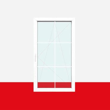 Sprossenfenster Typ 6 Felder Weiß 8mm SZR Sprosse 1 flg. Dreh-Kipp Fenster ? Bild 1