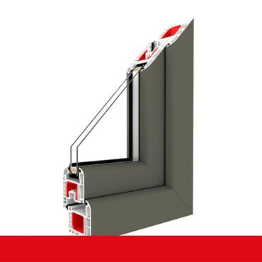 Fenster Basaltgrau Glatt 4 Sicherheitspilzzapfen abschließbarer Griff / Dreh/Kipp ? Bild 1