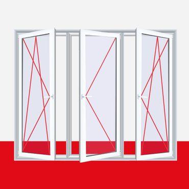 Fenster Milchglas Weiß 3 flg. Dreh-Kipp/Dreh/Dreh-Kipp Kunststofffenster ? Bild 2