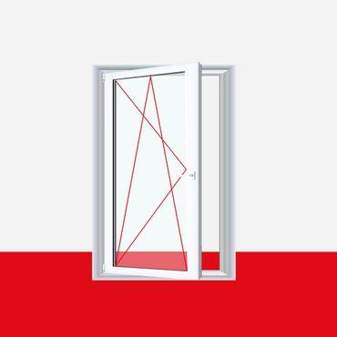 Badezimmerfenster Dreh-Kipp mit Lüftung und Fensterfalzlüfter mit Streifenglas  ? Bild 1