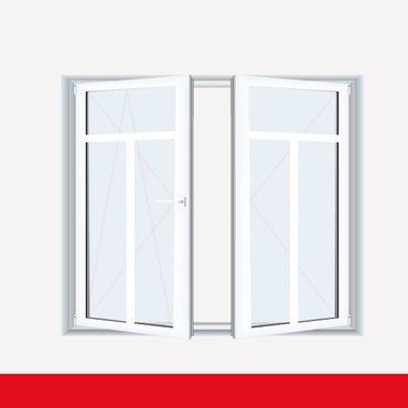 Sprossenfenster Typ 3 Felder Weiß 2 flg. Stulp Kunststofffenster 26mm T-Sprosse ? Bild 1