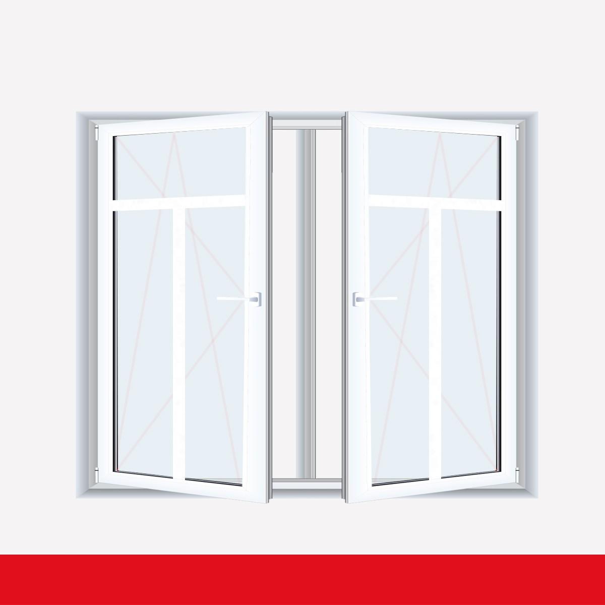 Sprossenfenster Typ 3 Felder Weiss 2 Flg Dk Dk Kunststofffenster