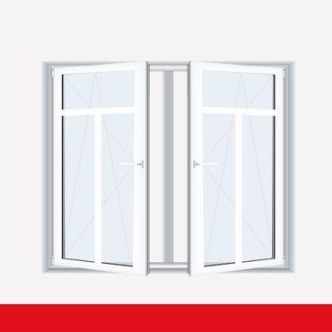 Sprossenfenster Typ 3 Felder Weiß 2 flg. DK-DK Kunststofffenster 26mm T-Sprosse ? Bild 1
