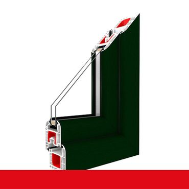 2-flüglige Balkontür Kunststoff Stulp Dunkelgrün beidseitig ? Bild 3