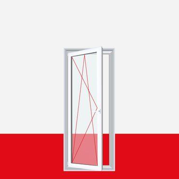 1 flüglige Balkontür Terrassentür Weiß mit flacher Schwelle Dreh-Kipp  – Bild 1