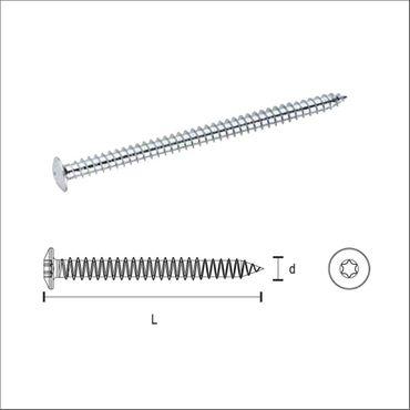 greenteQ - Fensterrahmenschraube i-Stern - Zylinder und Flachkopf – Bild 1