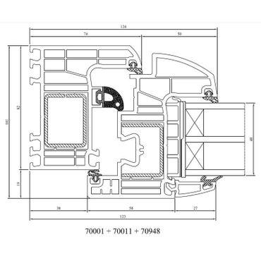 Kunststofffenster Drutex IGLO Energy 7-Kammer Fenster Dreh Kipp – Bild 2