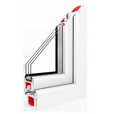 Kunststofffenster Drutex IGLO Light 5-Kammer Dreh Kipp schmaler Rahmen – Bild 1