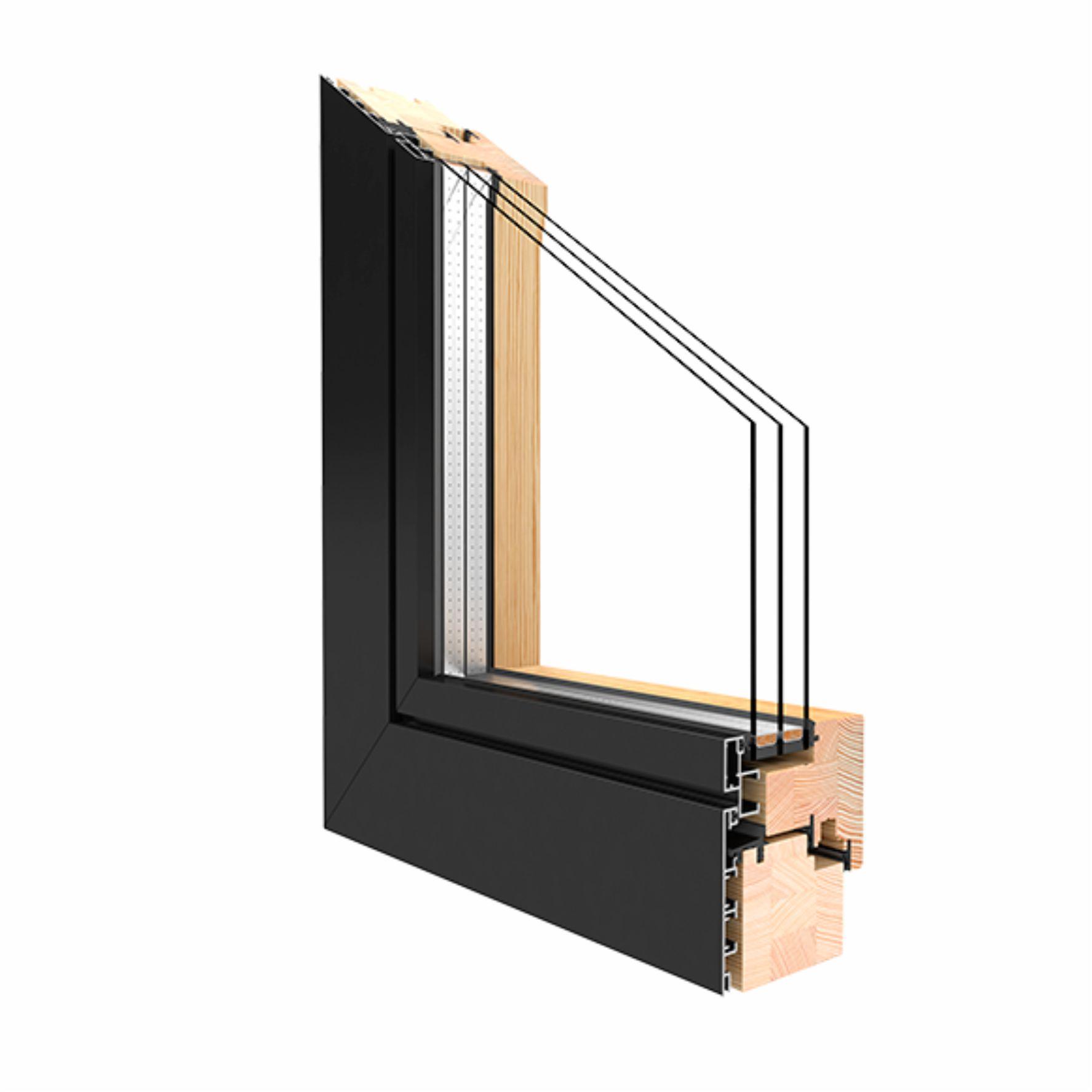 Holz alu fenster erfahrungen  Holz Alu Fenster Drutex Duoline 68 Kiefer Fenster alle Größen Shop ...