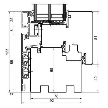 Holz Alu Fenster Drutex Duoline 78 Kiefer Fenster alle Größen ? Bild 3