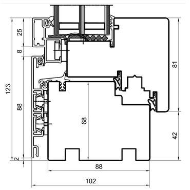 Holz Alu Fenster Drutex Duoline 88 Kiefer Fenster alle Größen ? Bild 3