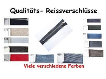 Qualitäts Hosen Rock Reißverschluss 18 cm metall  6 mm silber oder Goldener Schiene