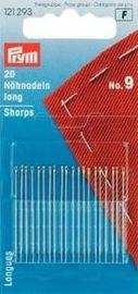 Prym Nähnadeln lang Stahl 9 silberfarbig 0,60 x 33 mm