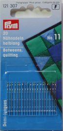 20 Nähnadeln halblang Stahl 11 silberfarbig 0,50 x 26 mm