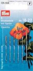 Sticknadeln mit Spitze Stahl 18-22 silberfarbig