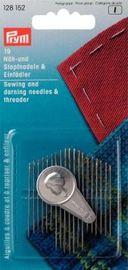 Nähnadeln Stopfnadel -Sortiment Stahl m. Einfädler 19 tlg 128152
