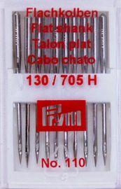 10 Qualitäts Nähmaschinennadeln Flachkolben 130/705 Staerke 110 Prym151546 Nadeln