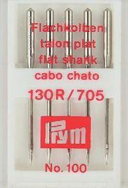 5 Nähmaschinennadeln 130/705 Standard Flachkolben 100er Prym 151565