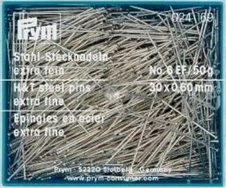 Stecknadeln Stahl 6 EF silberfarbig 0,60 x 30 mm