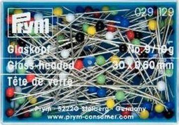 10 g Qualitäts Glaskopfnadeln Stahl Stecknadeln bunt 0,60 x 30 mm Prym