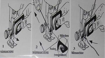Einfädler für Nähmaschinen Einfädelhilfe  Maschineneinfädler Nähmaschinennadel