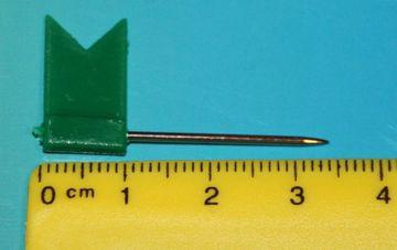 Stecknadeln Fahne Fähnchen Pinnwandnadeln Makiernadeln Kartennadel 31 mm 50 Stück grün