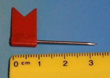 Stecknadeln Fahne Fähnchen Pinnwandnadeln Makiernadeln Kartennadel 31 mm 50 Stück 31 mm 50 Stück orange/rot