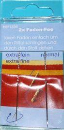 Faden Fee 2 Nadeln fein+normal ohne Einfädeln Nähnadeln Fadenfee