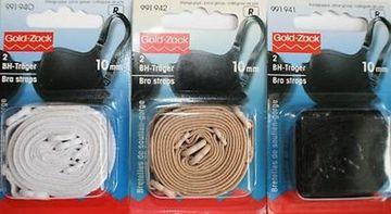 BH-Träger weiß schwarz haut 1a Qualität Prym 1 paar NEU