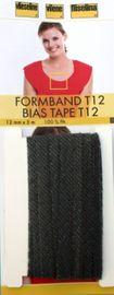 Formband 5m x 12 mm aufbügelbares Schrägband  grafit