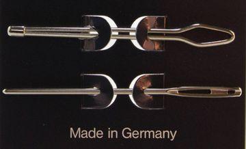 2 Durchziehnadeln  Wollnadel für Gummi Garn Wolle usw. 6,5 & 7 cm  - Made in Germany-